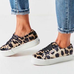 Superga Velvet Leopard Platform Sneakers NIB